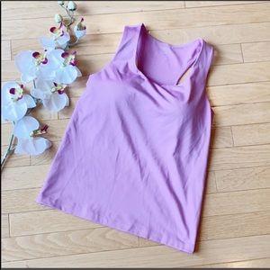 ATHLETA tank size 36B support purple pink shirt